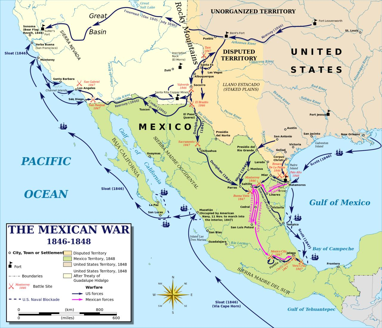meksika sava harita